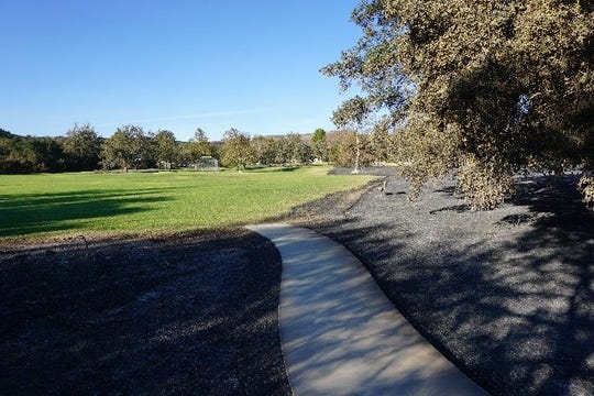 Neighbors of North Ranch Neighborhood Park in Thousand Oaks note that during November's disastrous Woolsey Fire, the park's mulch burned, while its grass did not.
