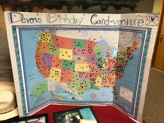 Devon Sweeney asked for birthday cards from all 50 states for his 11th birthday.