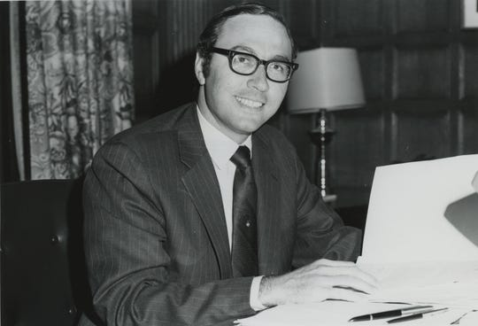 Joseph Hankin in his early days as Westchester Community College president.