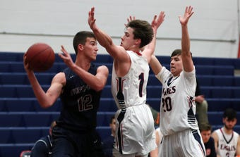 Byram Hills defeated Eastchester in boys basketball action at Eastchester High School Jan. 16, 2019.