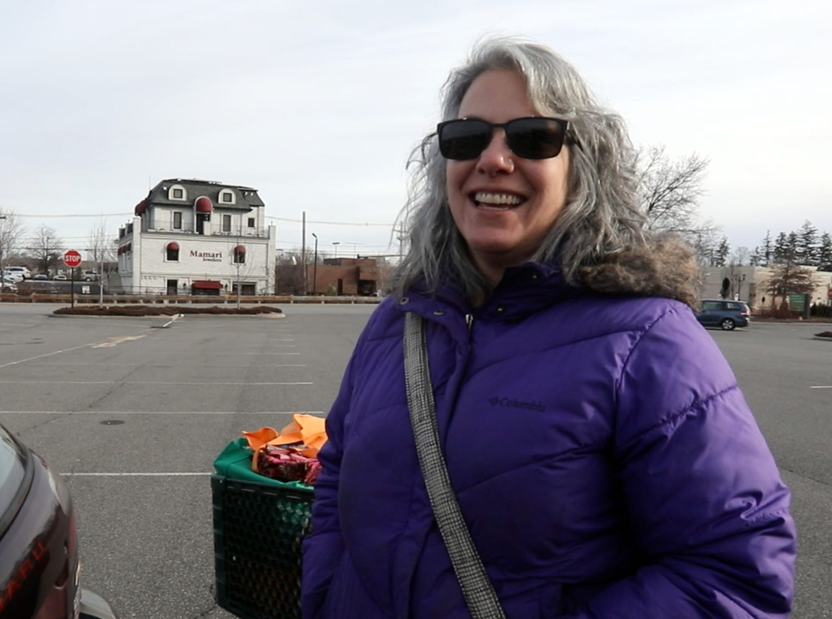 Linda Rurak of Nanuet stocks up on veggies, chips and beer for the upcoming snowstorm at Fairway in Nanuet Jan. 17, 2019.