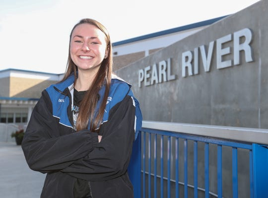 Breanne Dolphin, selected as the Rockland Scholar/Atlhete of the Week was photographed at Pearl River High School on Thursday, January 17, 2019.