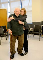 "Ed Asner, with Liba Vaynberg, will appear in ""The Soap Myth"" at Delaware Theatre Company on Thursday, Jan. 24."