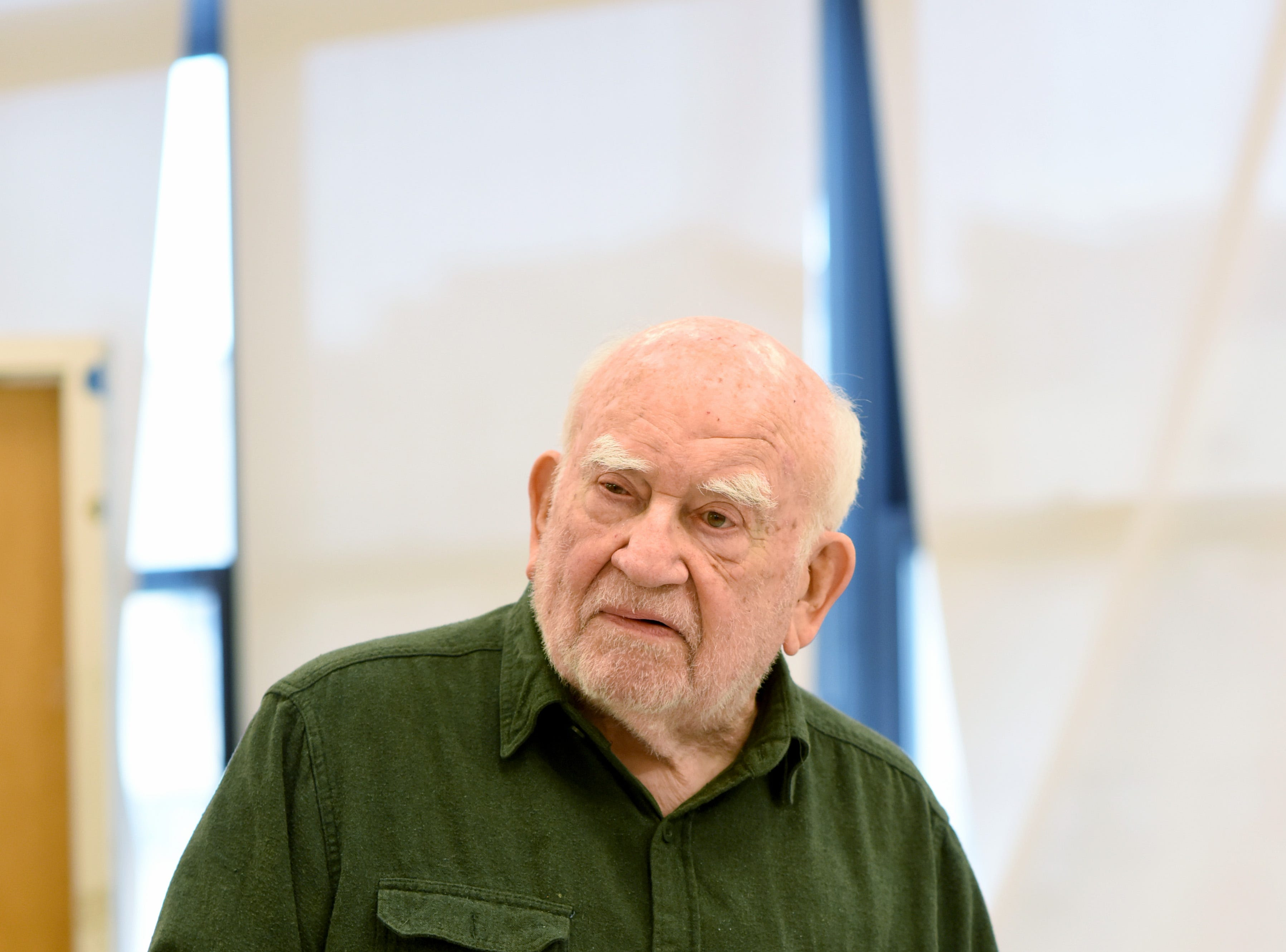 "Ed Asner rehearses ""The Soap Myth,"" which will play Thursday, Jan. 24 at Delaware Theatre Company."