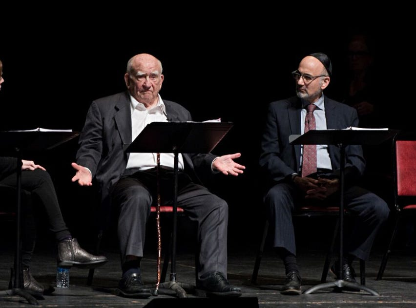 "Liba Vaynberg, Ed Asner and Ned Eisenberg will appear in ""The Soap Myth"" at Delaware Theatre Company on Thursday, Jan. 24."