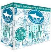 Dogfish Head's new low calorie IPA, Slightly Mighty, is currently on tap at the Rehoboth brewpub. It started appearing in stores in April.