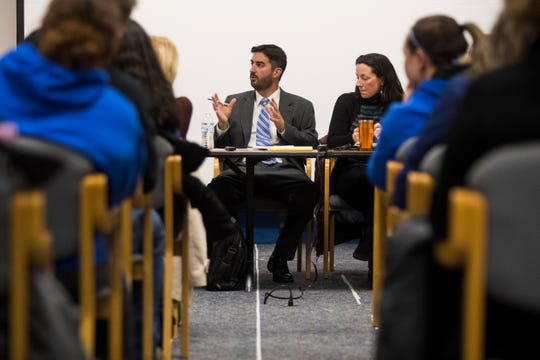 As the Formal Review of Odyssey Charter begins, parents sought answers from school board president Josiah Wolcott at a town hall meeting Wednesday night.