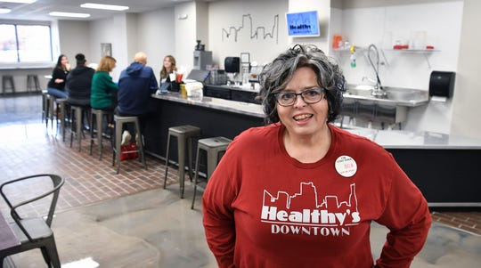Carrie Gardner, owner of Healthy's Downtown, recently opened the new shakes and teas bar at the corner of 8th Street and Scott Avenue.
