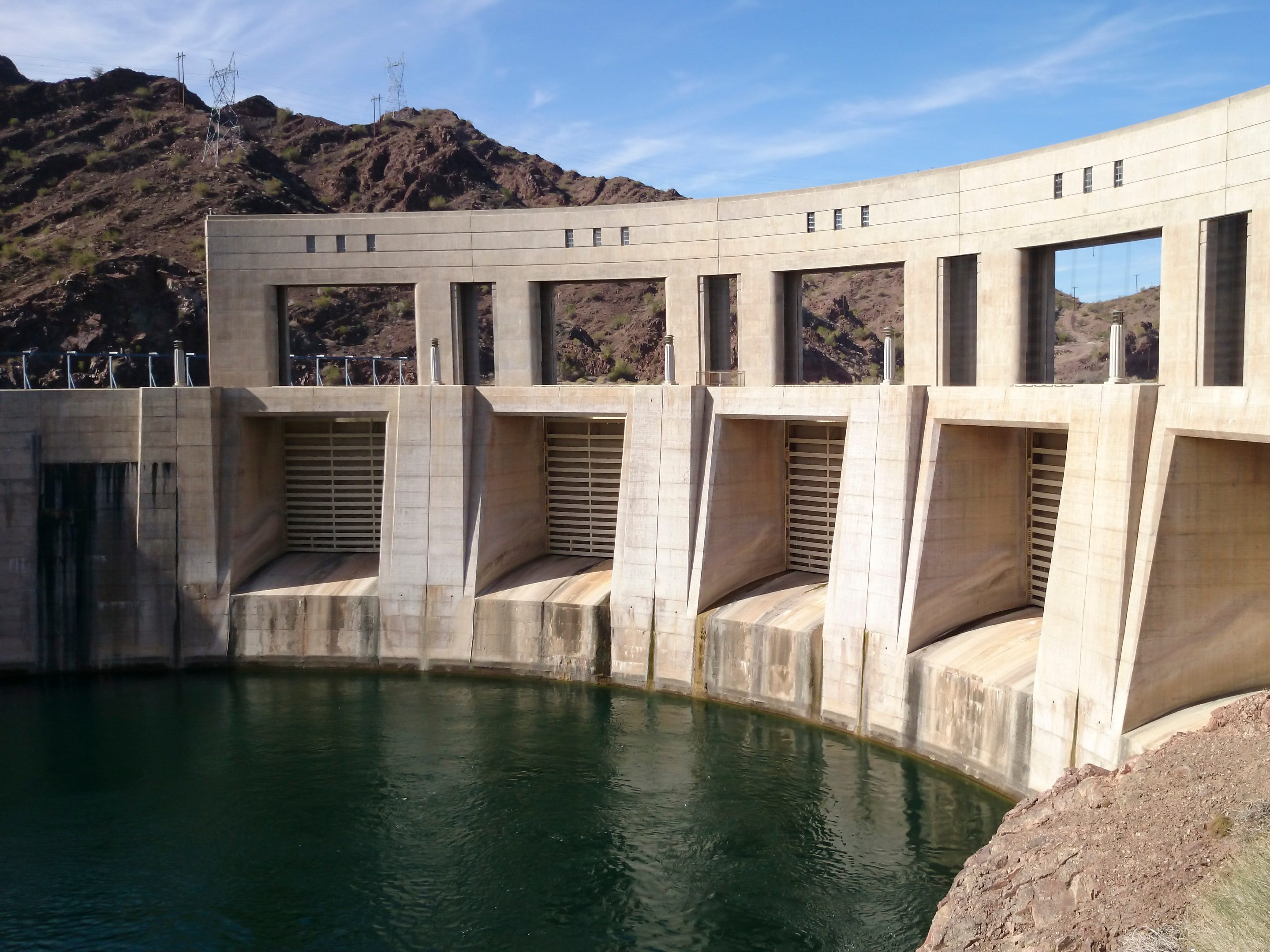 Parker Dam in Arizona.