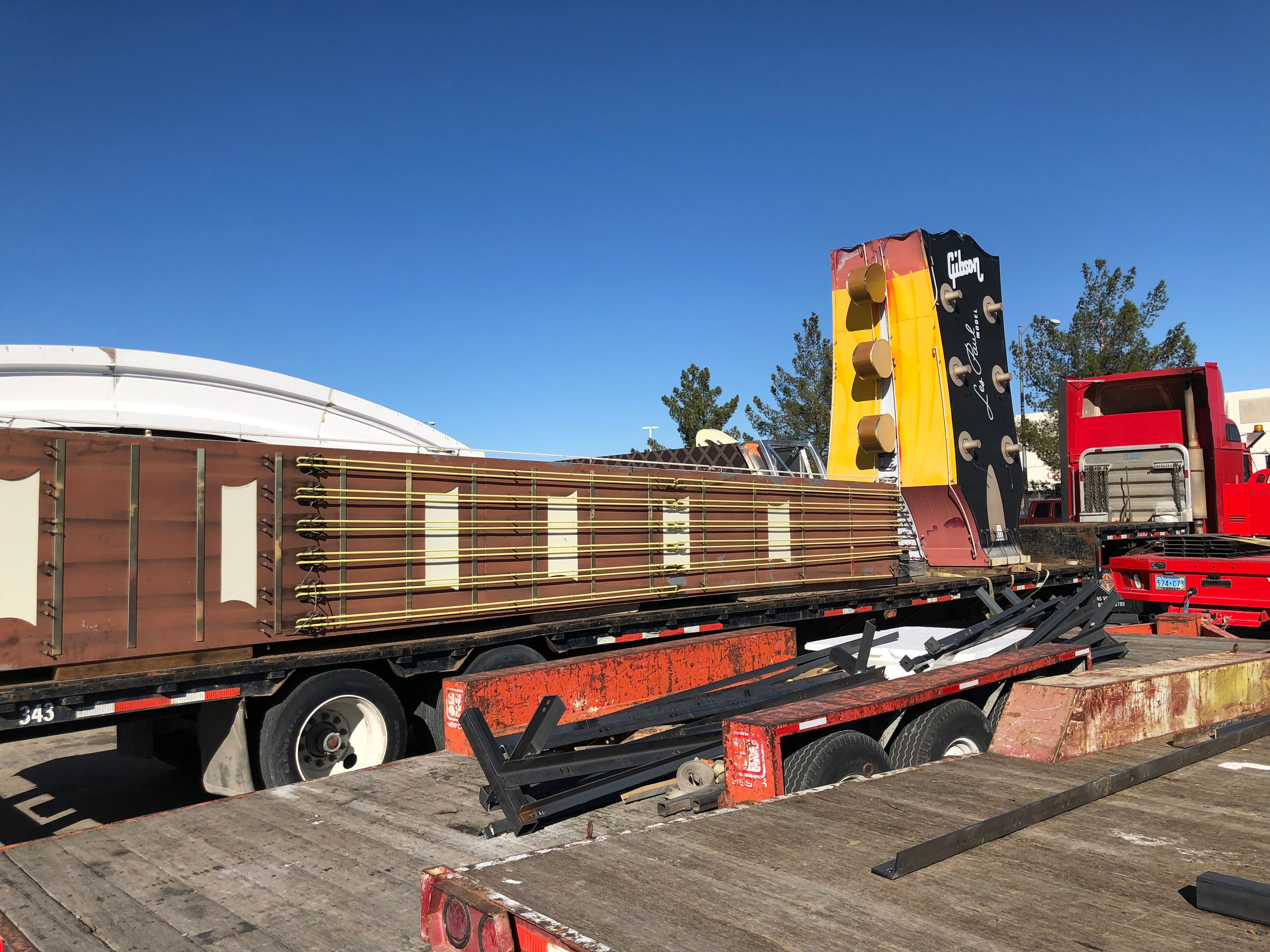 The iconic sign from the Hard Rock Cafe Las Vegas, which closed in 2016, will be on display at the Neon Museum in Las Vegas beginning in March 2019. The downtown Las Vegas museum has a $350,000 fundraiser to restore and maintain the sign.