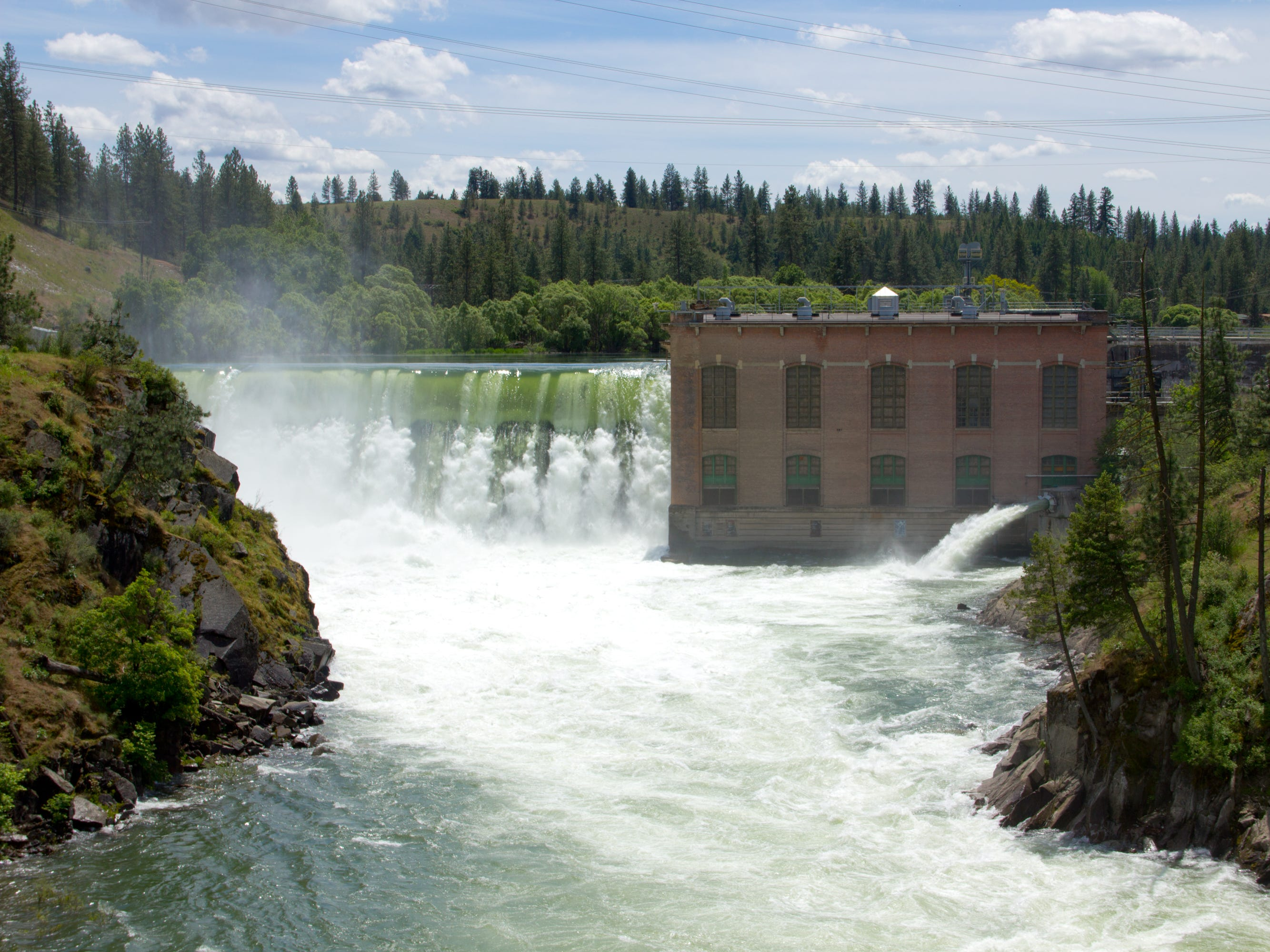 Nine Mile Dam in Washington.