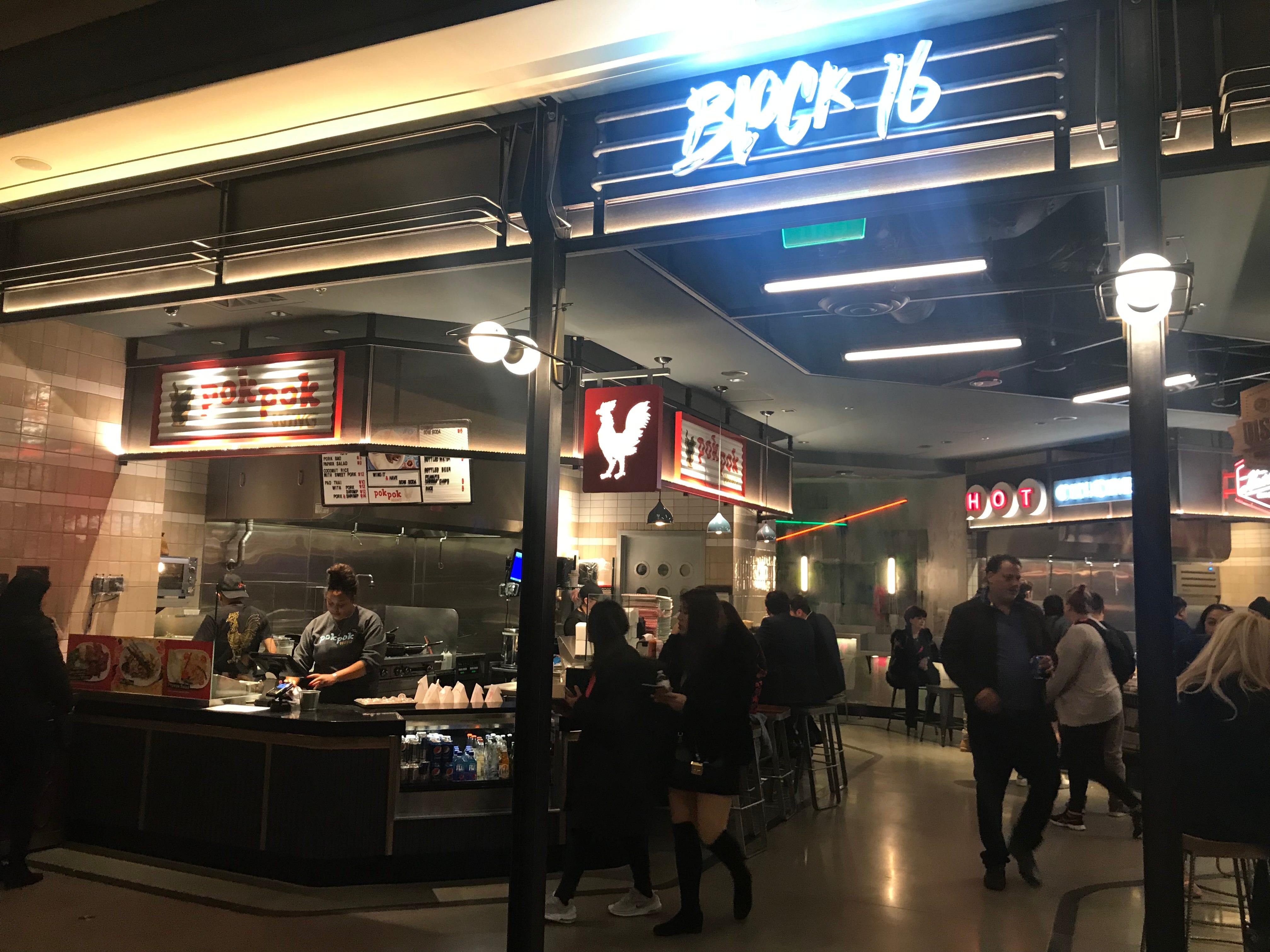 Block 16 Urban Food Hall is a new food court for foodies at Cosmopolitan Las Vegas, featuring popular restaurants from around the country.