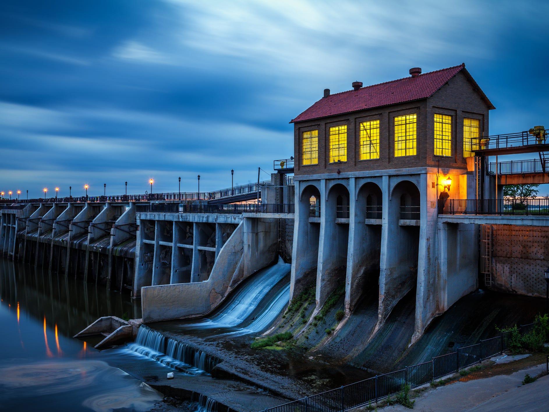 Overholser Dam in Oklahoma.