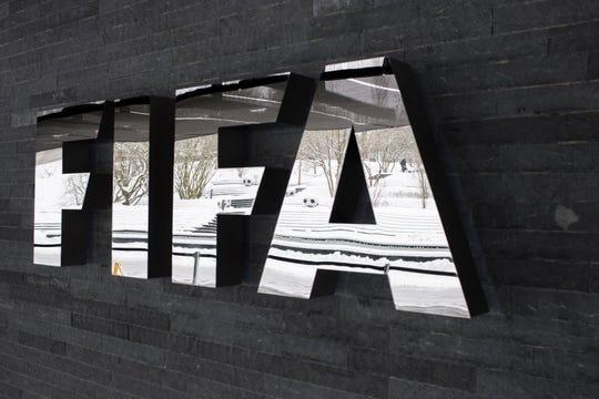 The FIFA logo .