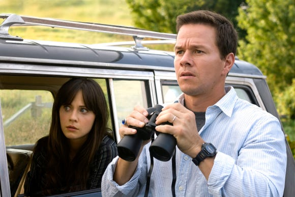 "A cool breeze is chilling for Zooey Deschanel and Mark Wahlberg in ""The Happening."""