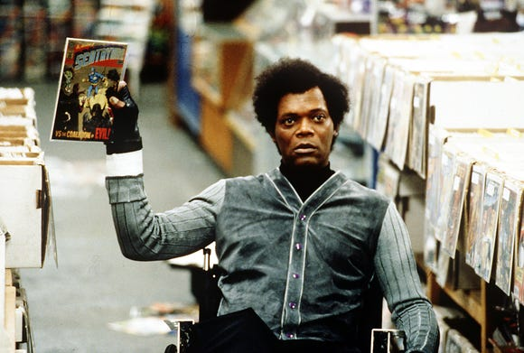 "Samuel L. Jackson plays a comic-book lover who's also quite the mastermind in ""Unbreakable."""