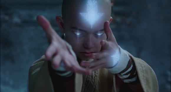 """Noah Ringer plays magical kid Aang in """"The Last Airbender."""""""