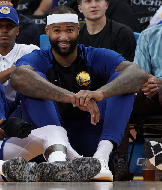 new styles 87283 6f39f Warriors forward center DeMarcus Cousins is set to return from injury and  make his official debut