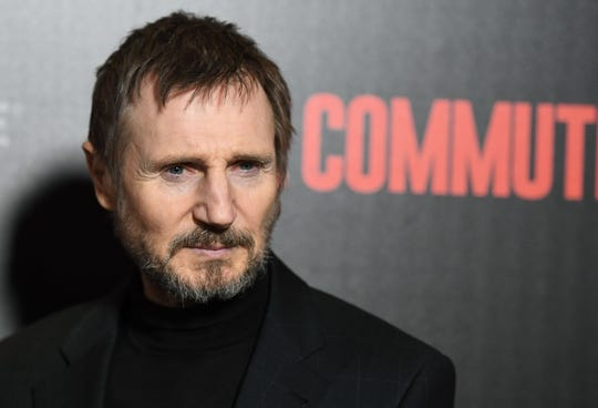 "Liam Neeson attends the New York premiere of ""The Commuter"" on Jan. 8, 2018."