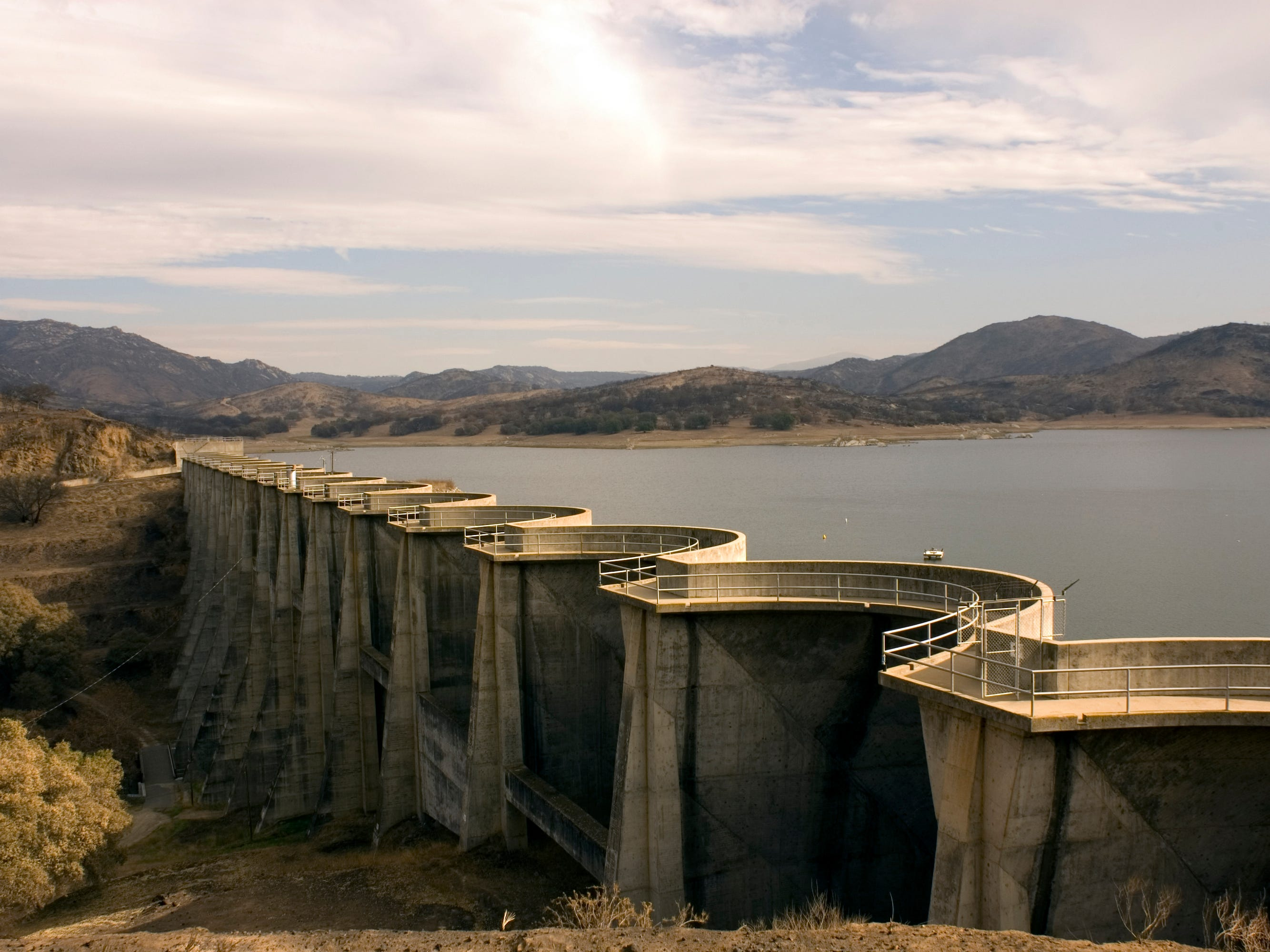 Sutherland Dam in California.