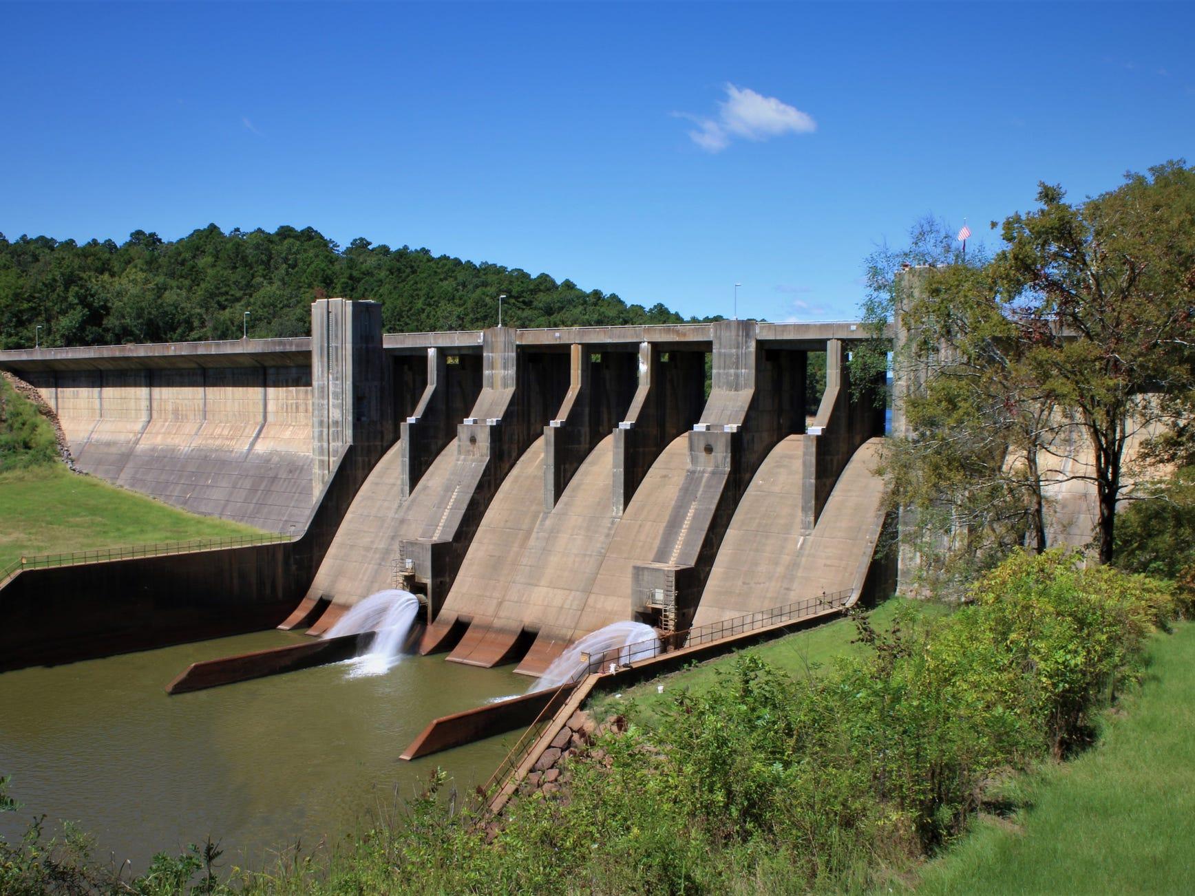 Nimrod Dam in Arkansas.
