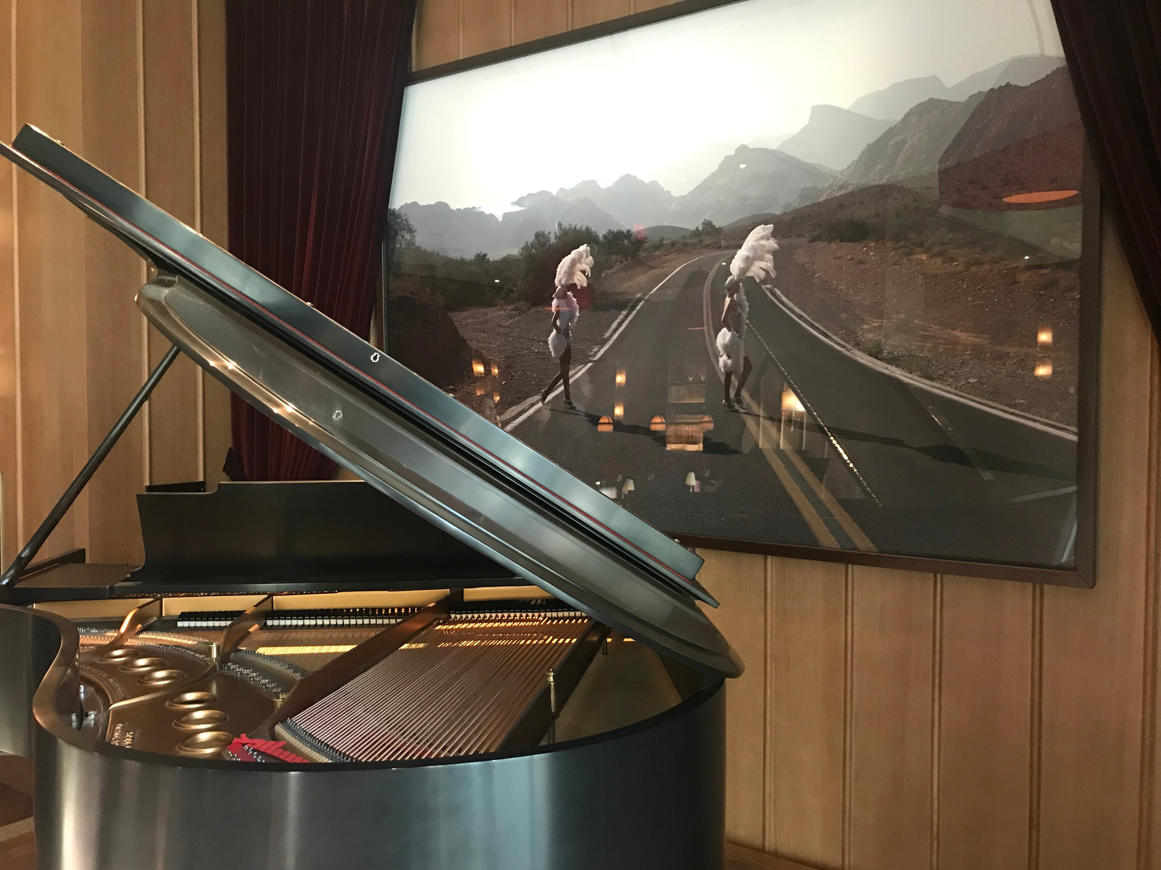 Piano at NoMad Bar, a restaurant at the new NoMad Las Vegas hotel.