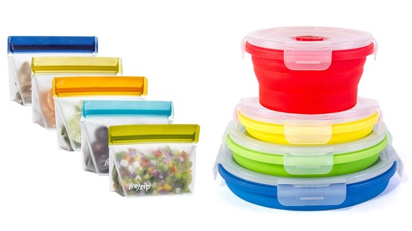 Food storage bags and containers are great for bringing healthy snacks on those long walking tours.