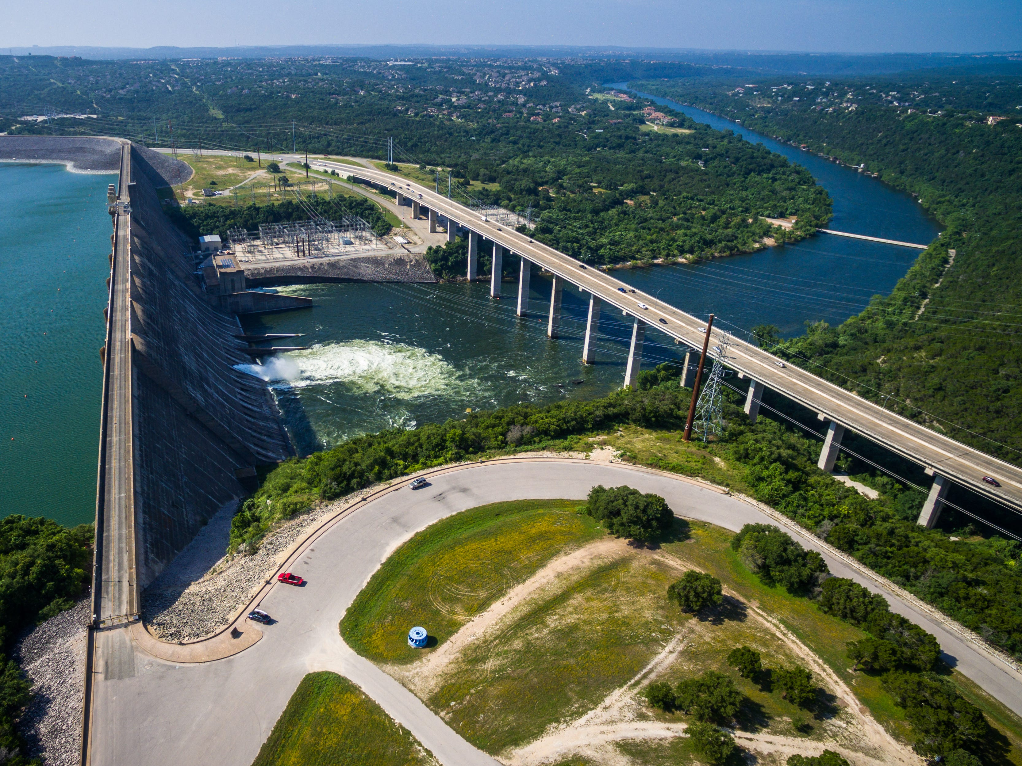 Mansfield Dam in Texas.