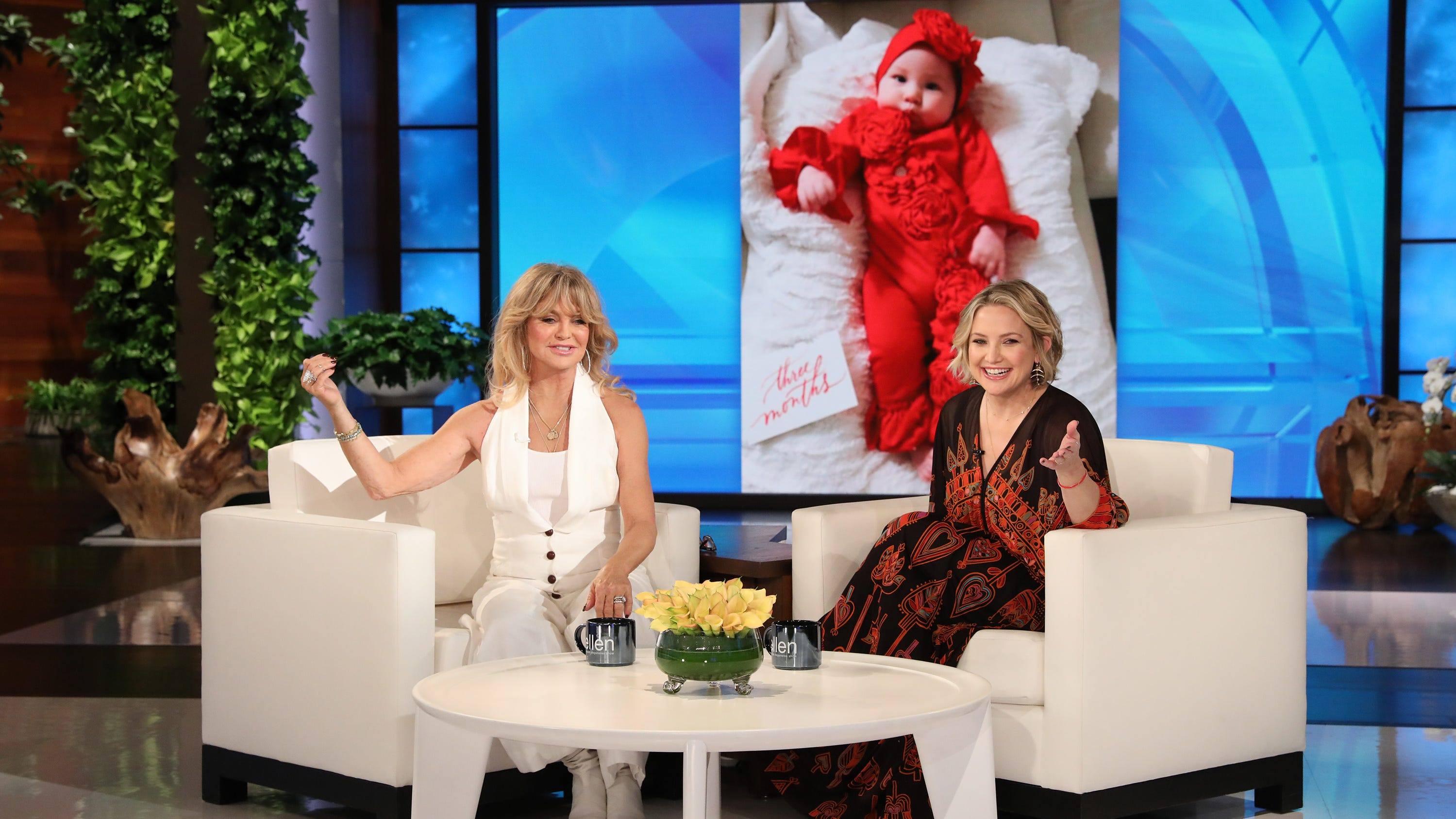 Goldie Hawn and Kate Hudson recall the delivery room antics that ensued during birth of Rani Rose.