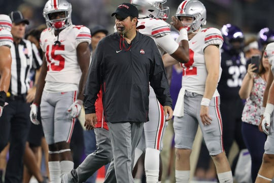 Ryan Day won three games as interim coach of Ohio State last season.