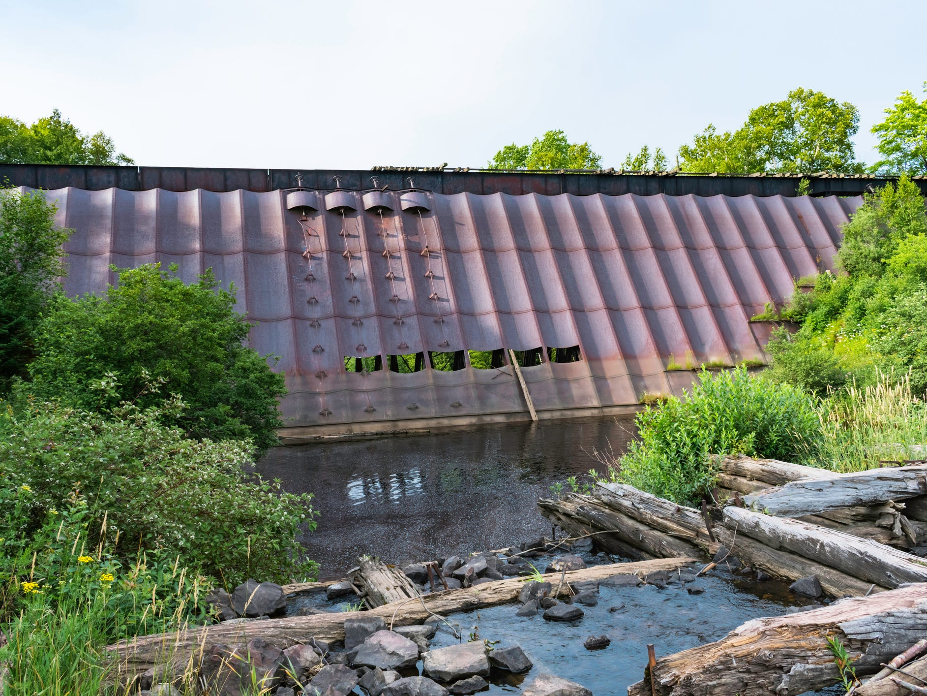 Redridge Steel Dam in Michigan.
