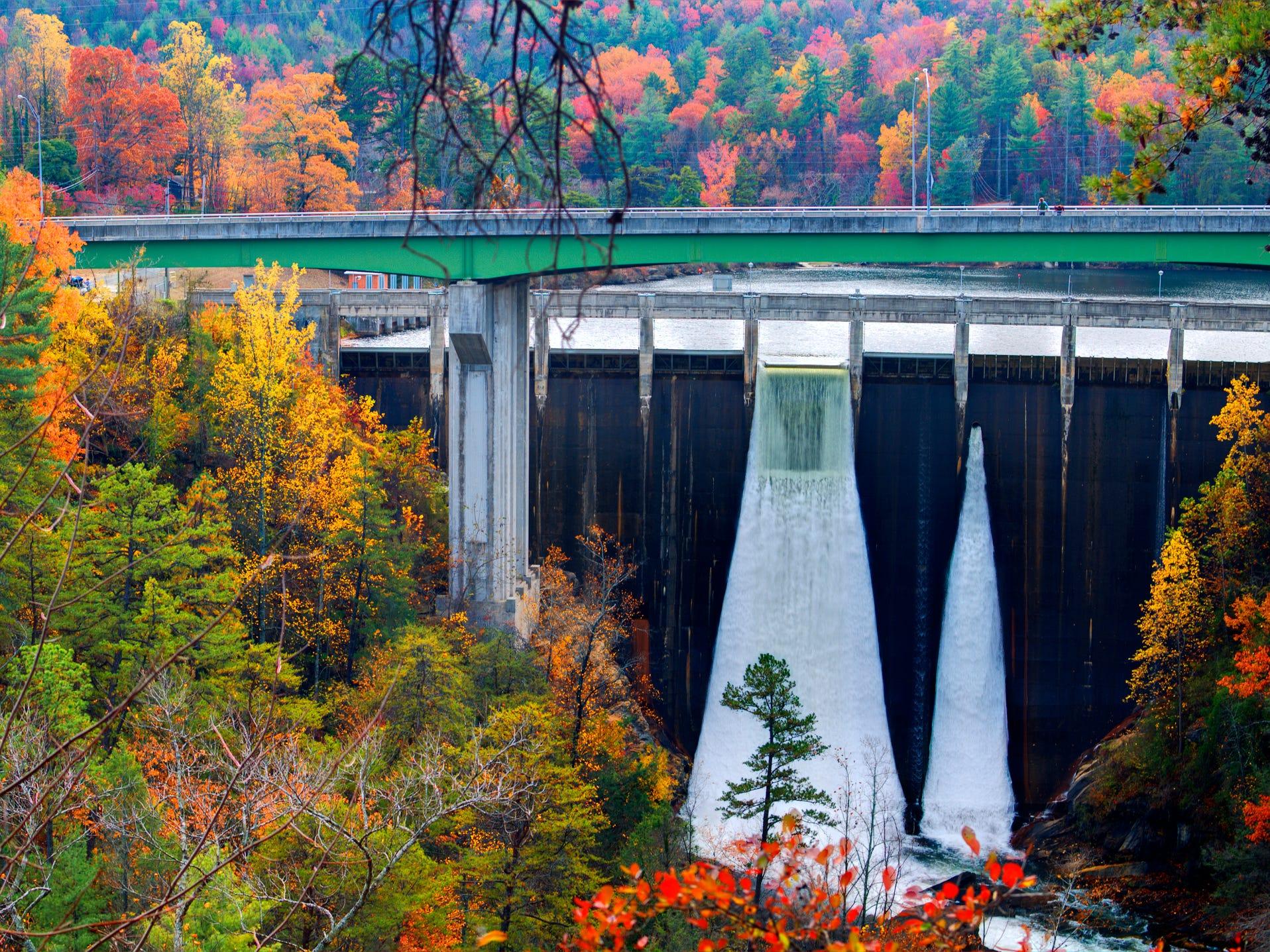 Tallulah Falls Dam in Georgia.