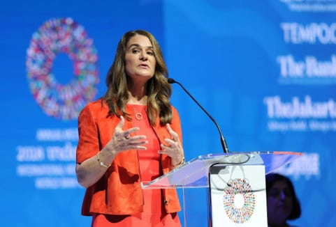Melinda Gates said she will address the US death rates in the United States and her husband, Bill's Yearbook.