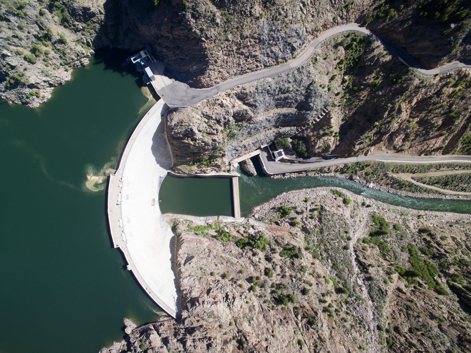 Morrow Point Dam in Colorado.