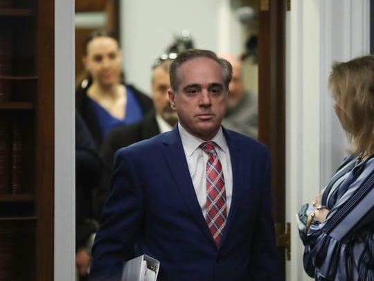 Then-Veterans Affairs secretary David Shulkin appears before a congressional committee on March 15, 2018 in Washington, DC.