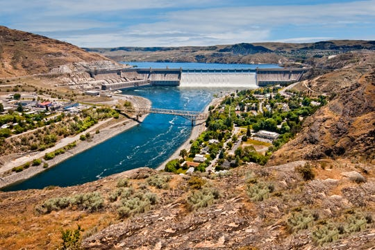 Grand Coulee Dam in Washington.