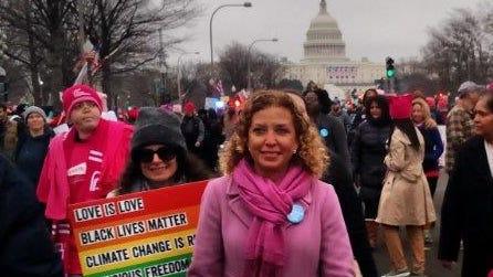 Rep. Debbie Wasserman Schultz in the Washington...
