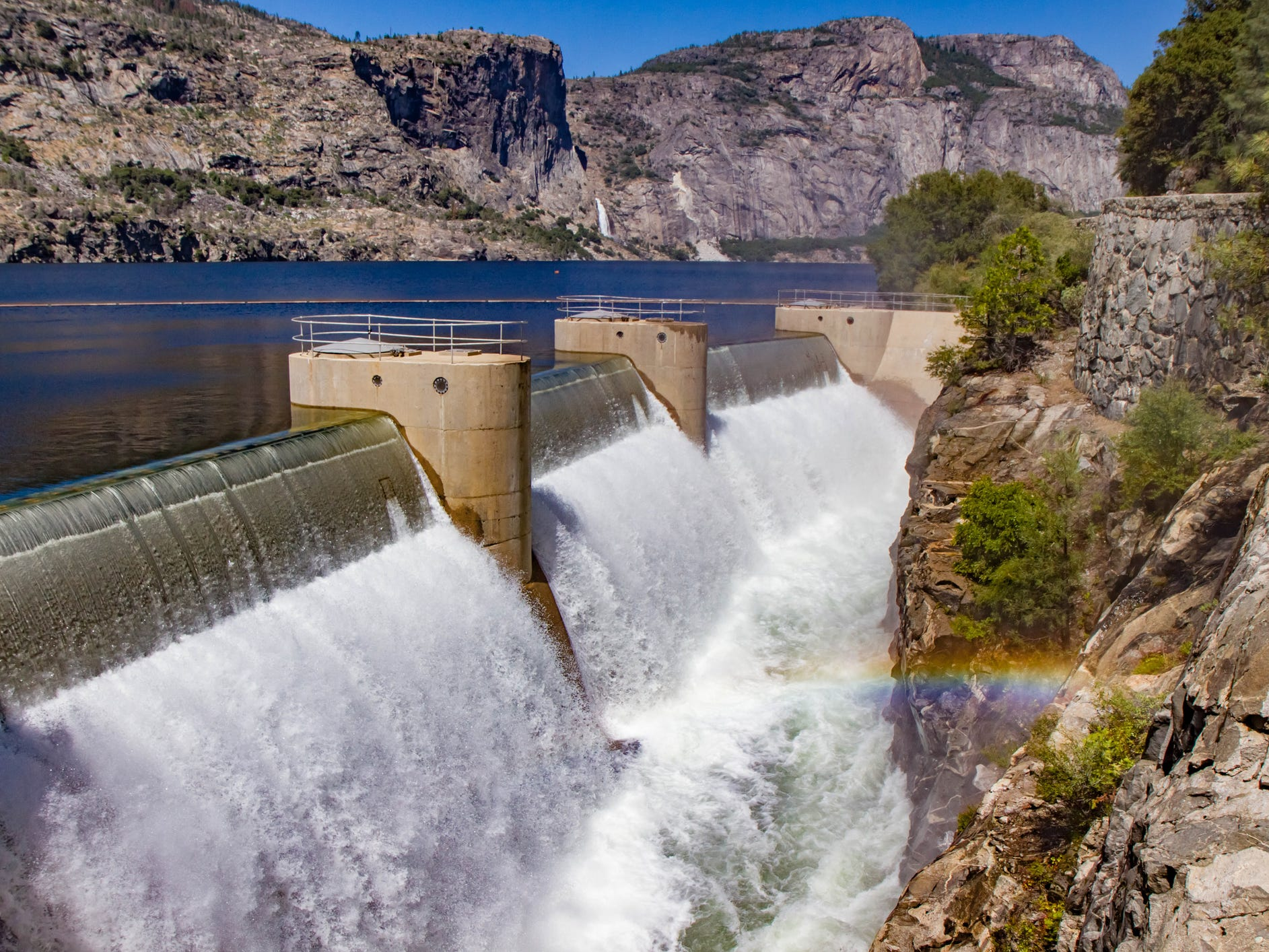 O'Shaughnessy Dam in California.