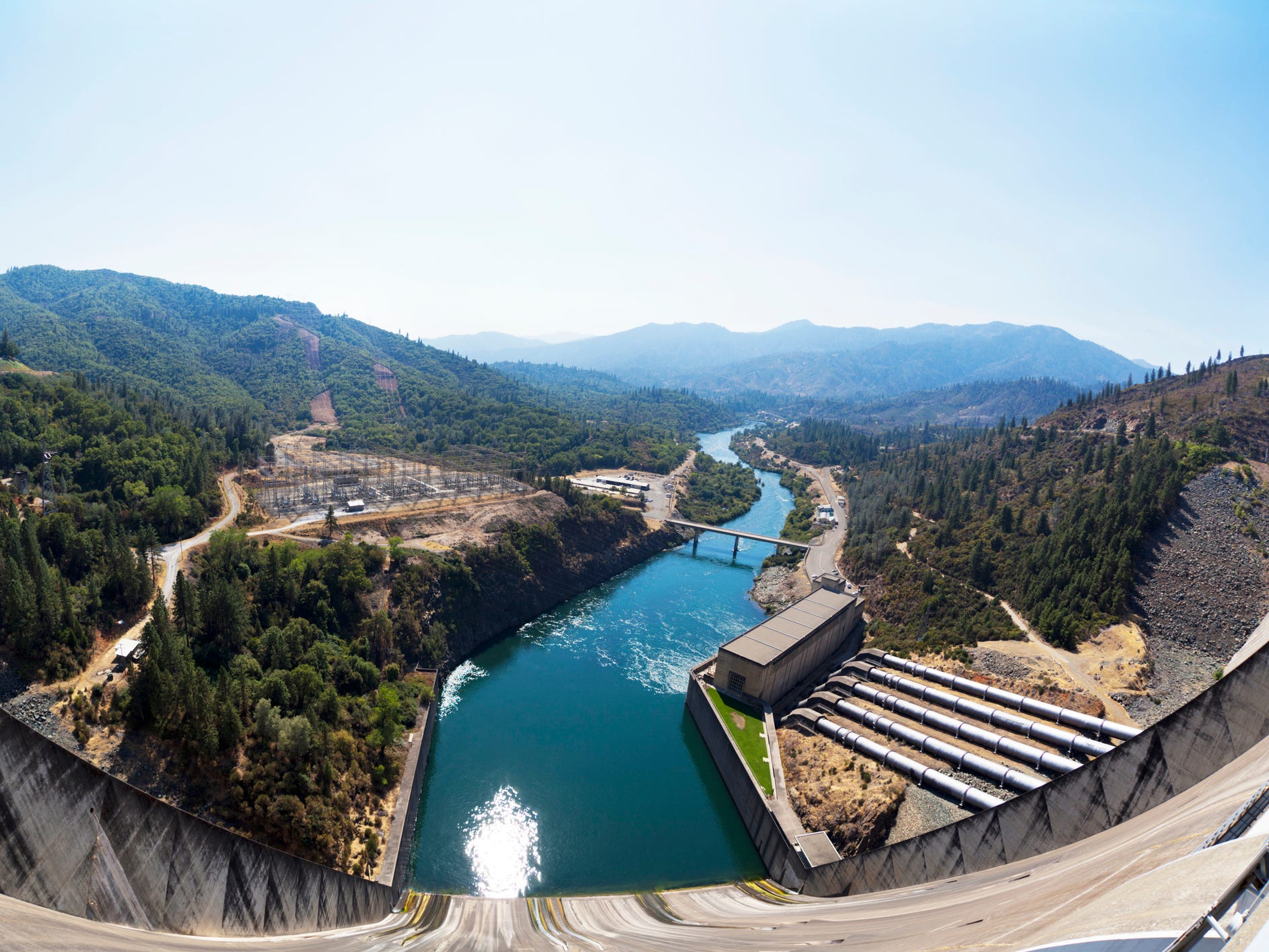 Shasta Dam in California.
