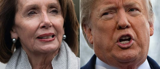 Speaker of the House Nancy Pelosi and President Donald Trump (Photos by SAUL LOEB and Jim WATSON / AFP)