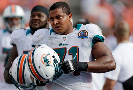 Offensive tackle Jonathan Martin was drafted by the Dolphins in 2012.