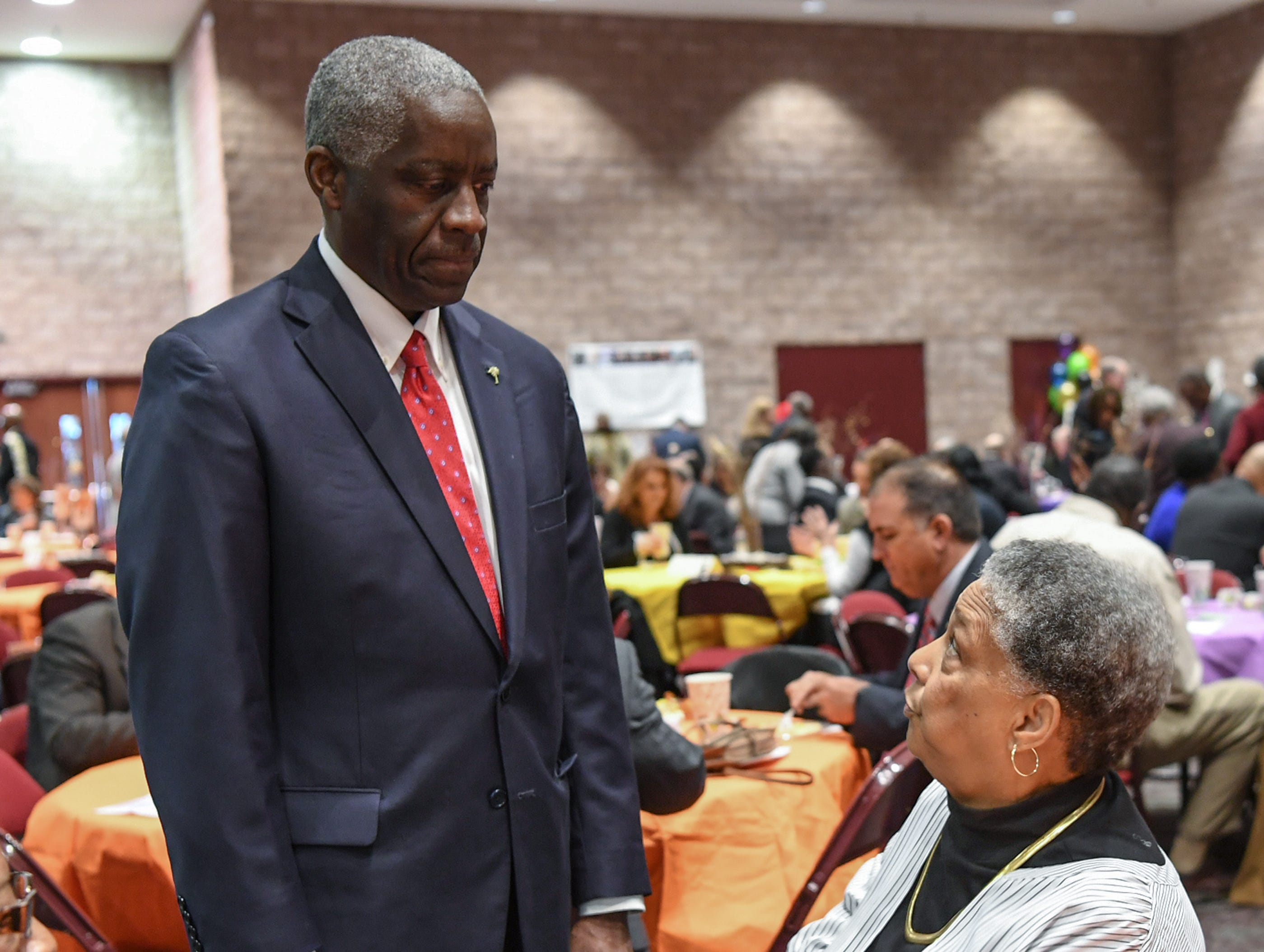 during the Mayor's Martin Luther King Jr Breakfast in the Anderson Civic Center Friday, January 18, 2019.