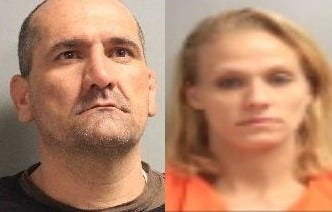 Gene Dewayne Moras Jr. (left) and Lacey Renee Chandler