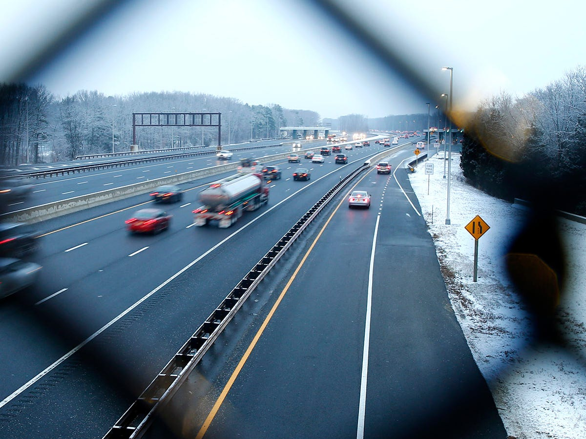 Traffic moves freely along the Garden State Parkway near exit 91 in Brick Township Friday morning, January 18, 2019.