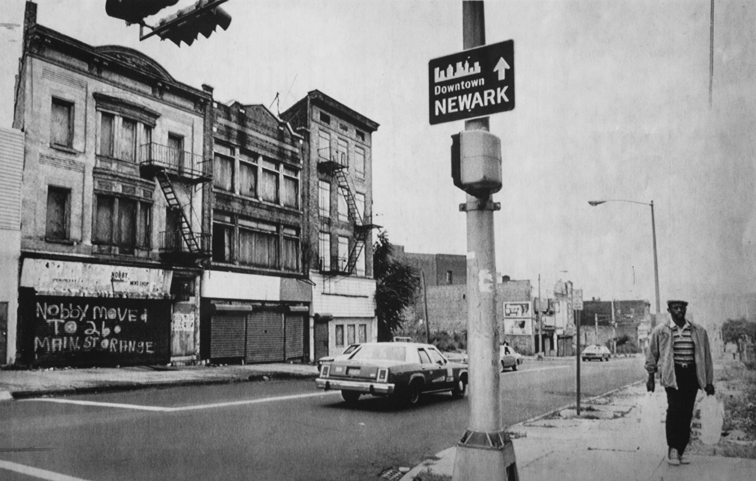 Springwood Avenue in Newark shown in 1986. Scene of the 1967 riots, the neighborhood was in dire condition when crack hit in the late 1980s.