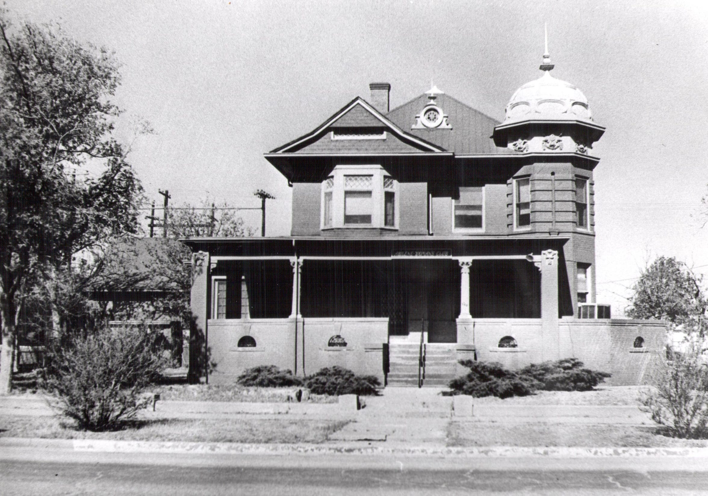 The Radford Home, which was located at 140 Hickory St., was the Abilene Woman's Club's second building.