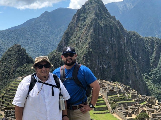 Augie Bill and his nephew Mason Garza, both of Abilene, visited Machu Picchu while on a trip to Peru in September and October.