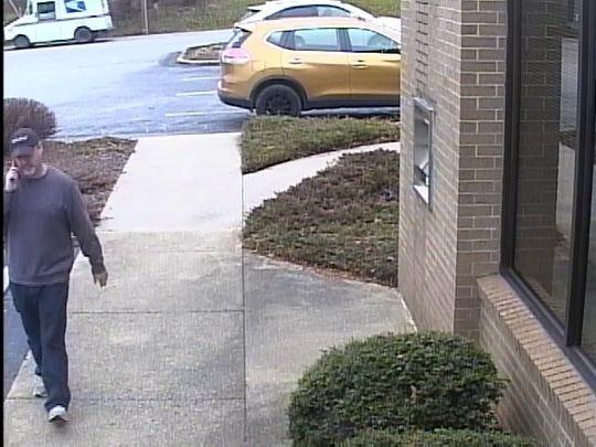 The 'Traveling Bandit' bank robber hit the Arden Suntrust on Jan. 2.