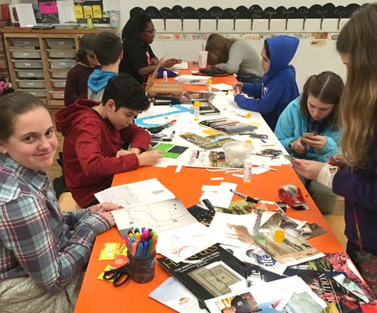 Teens create cards of intentions to get the new year off to a good start.