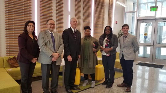 The recipients of a countywide entrepreneurship grant program to fund student start-up businesses were announced Friday morning.